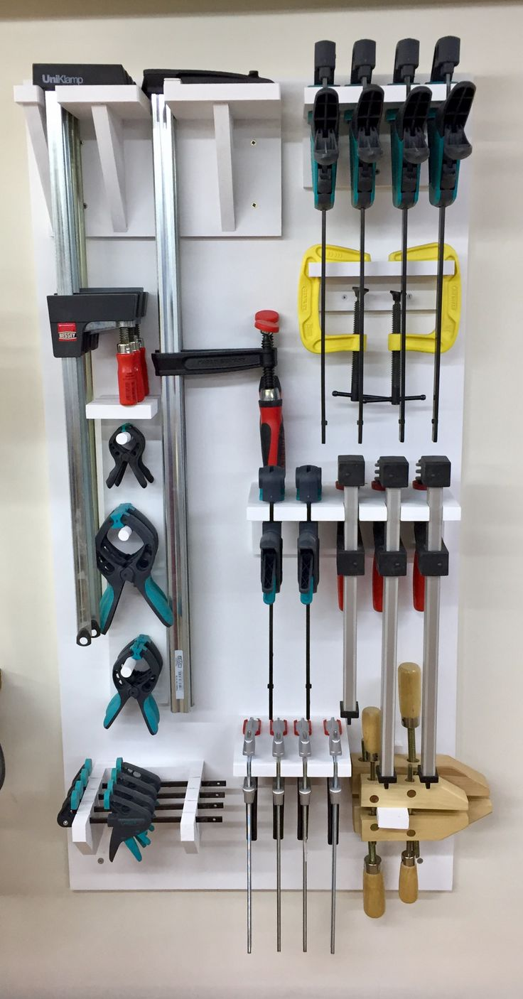 Clamp Rack - neat idea for storing clamps. Currently I don't have too many, but it seems like everytime you make something, you need a few more! I think I need to make something like this to organise them!