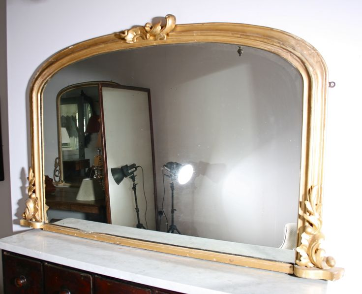 Victorian Giltwood Overmantle Mirror MirrorLiving Room