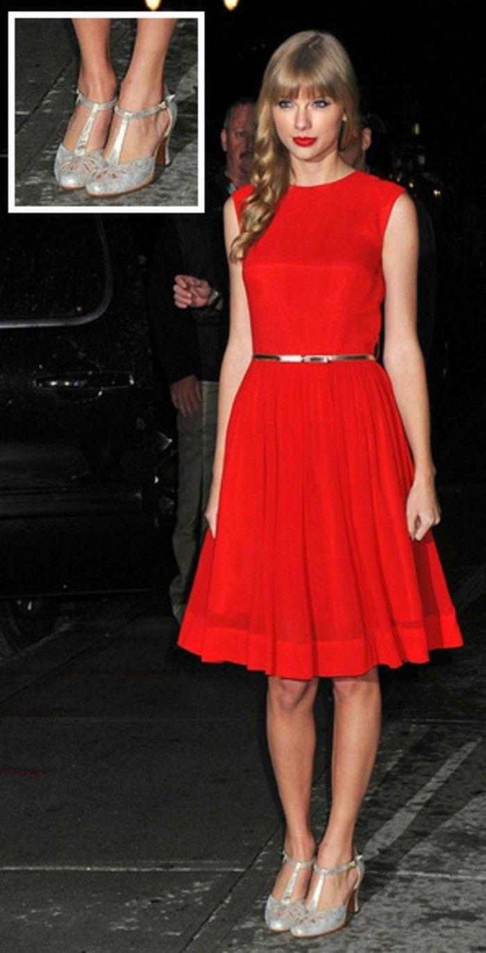254bc16e27d05a Einfache ▷ 1001+ Ideen für rotes Kleid - welche Schuhe zu wählen ...