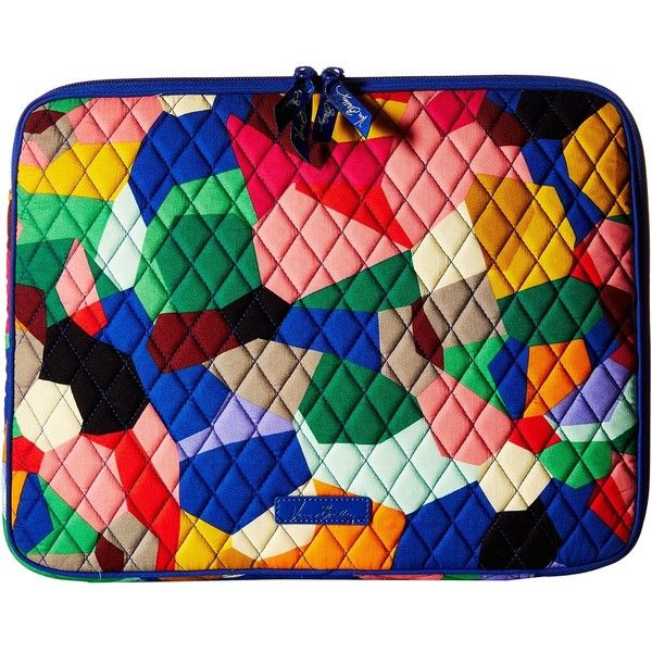 Vera Bradley Laptop Sleeve (Pop Art) Computer Bags ($38) ❤ liked on Polyvore featuring accessories, tech accessories, vera bradley, laptop sleeve cases, vera bradley laptop case, laptop cases and padded laptop case