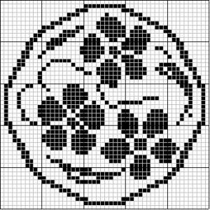 Round filet crochet: