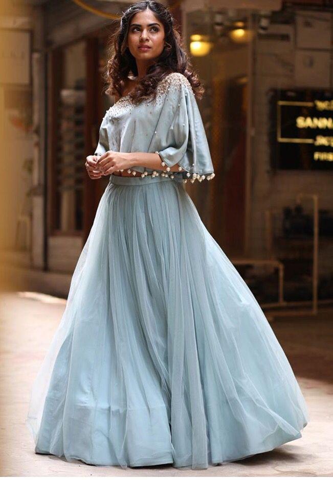 Monika Nidhi # cape lehenga # pastel look # summer fashion