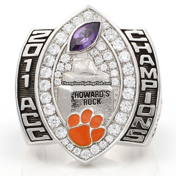 custom clemson championship tigers acc rings ring