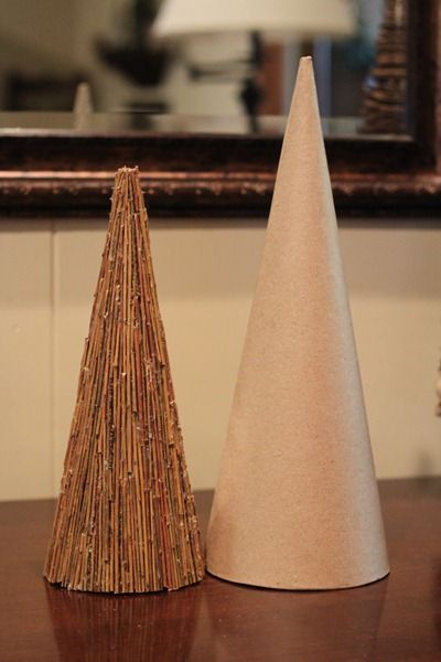 DIY:  Cone Christmas Tree Made With Sticks