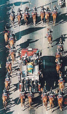 Ayrton Senna's funeral, 1994.
