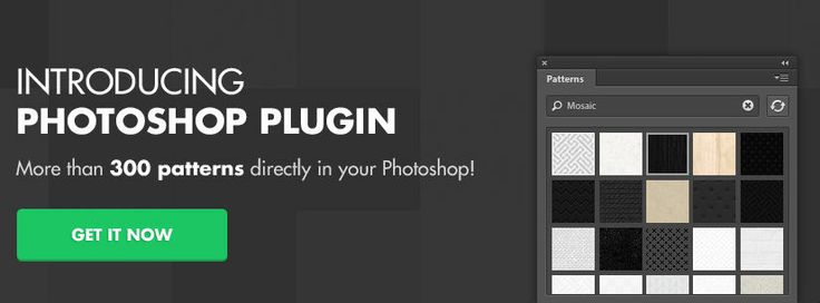 The 36 Best Photoshop Plugins for Designers - Subtle patterns help to get the patterns in the easier and more seamless way into your Photoshop files.