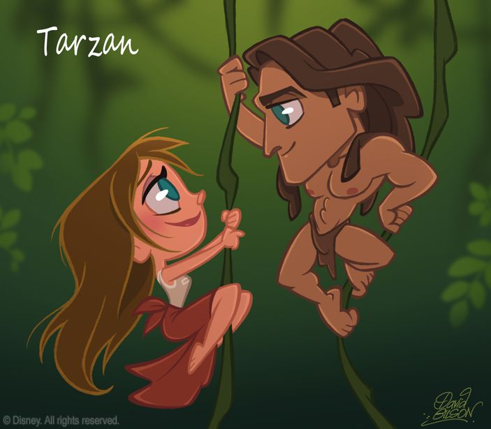 50 Chibis Disney : Tarzan by David Gilson
