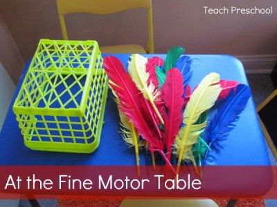 Invitation to Play at the Fine Motor Center from Teach Preschool..November/turkey theme