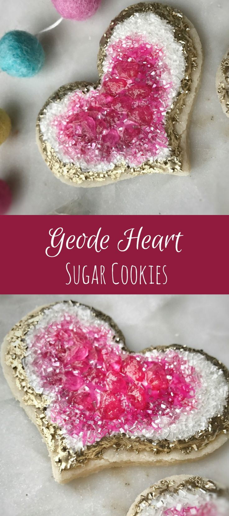 Geode Heart Cookies Birthday Valentine's Day #affiliate
