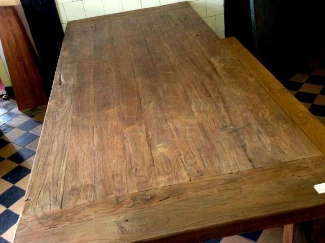 Teak kloostertafel rechte poot 240x100cm afbeelding 4   tafel   Pinterest   Teak