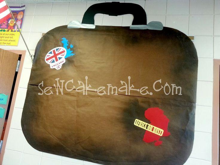 World Traveling Kinders- Travel Bulletin board idea