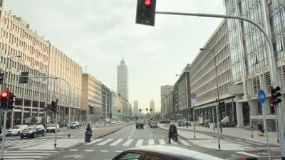 MILAN - FEBRUARY 20: Time lapse view of traffic on the main street on February 20, 2012 in Milan, Italy. - HD stock video clip