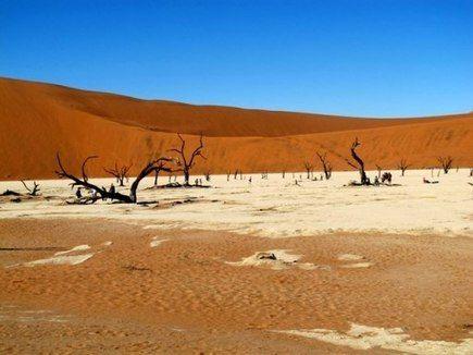La luna sulla terra: il deserto della Namibia