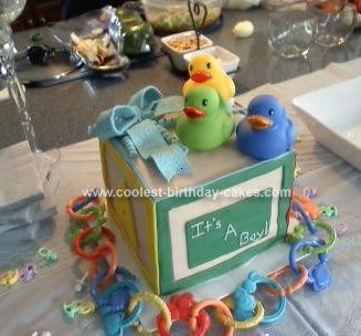 homemade baby shower cake baby block as a baby shower cake 8x8 pan