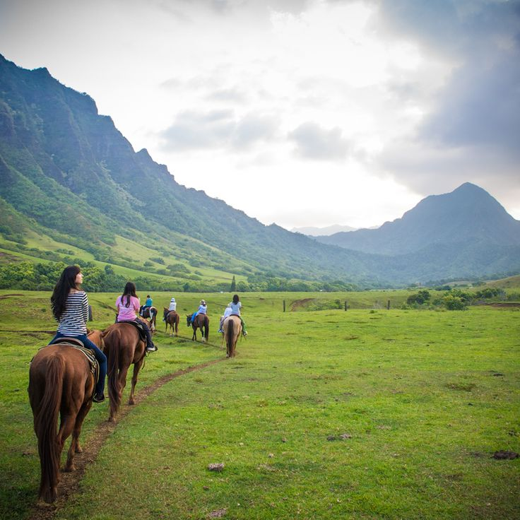 "Oahu Horseback Riding at Kualoa Ranch - ""I had the opportunity to experience horseback riding at Kualoa Ranch this past weekend. I loved every second of it. Not only was the staff super friendly, the scenic landscape surrounding us was truly unforgettable."""