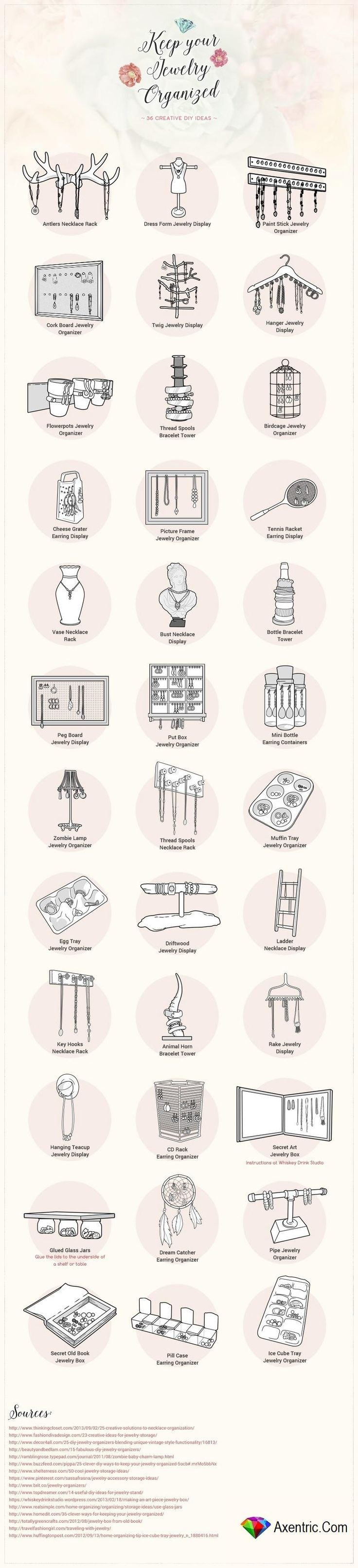 36 Creative DIY Ideas for Organizing Your Jewelry Storage Better