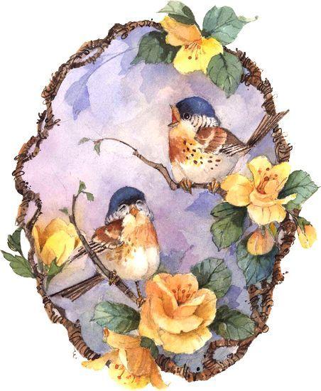 Ev dekorasyonu için kullanlılabilir kuş temalı CiCi dekopaj resimleri.. (^_^)