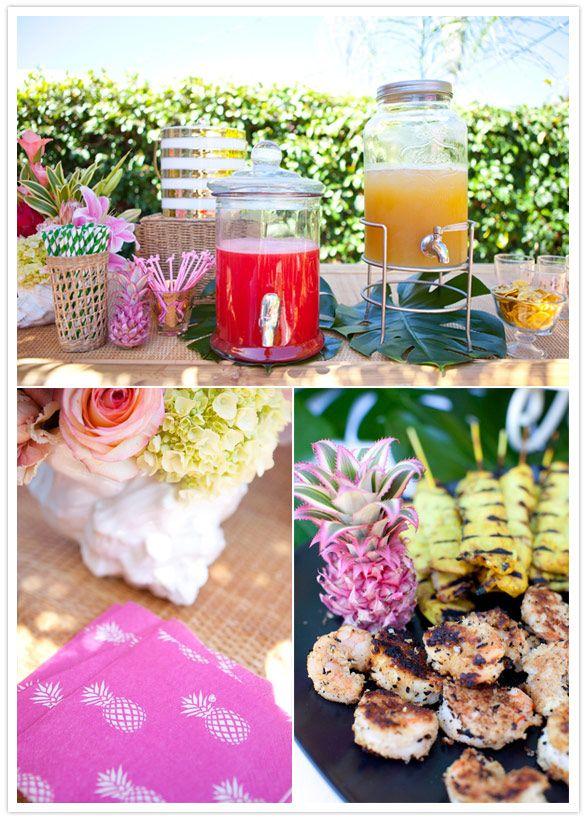 Bachelorette Tiki Party Inspiration - TrueBlu                                                                                                                                                      More