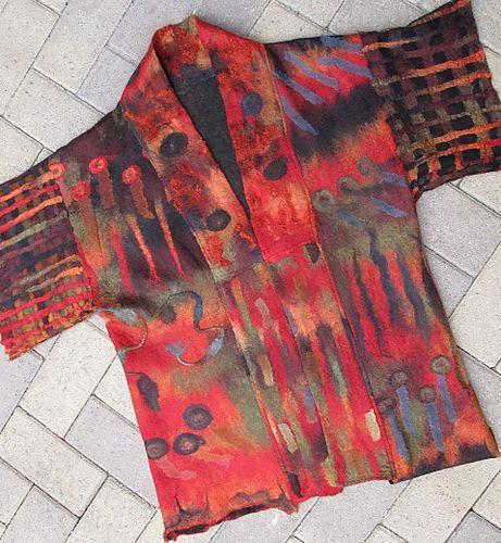 SpinSpin's Felted kimono jacket