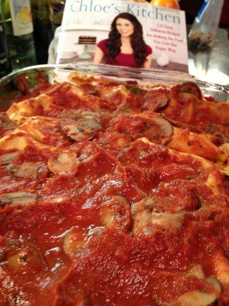 """The """"Enlightened"""" No-Oil Low-Fat Version of Chef Chloe's Ooh-La-La Lasagna ~ Sub brown rice pasta"""