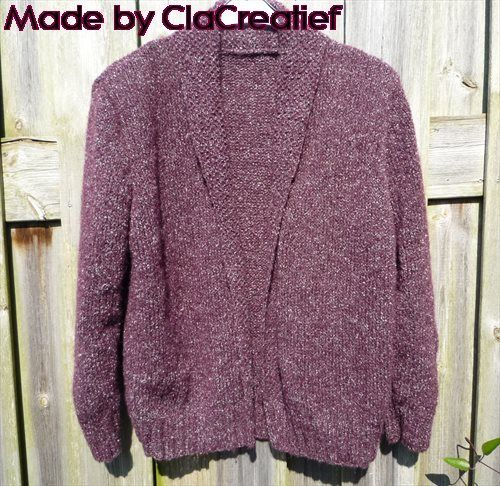 Made by ©Clacreatief; Gebreid vest van mohair. Patroon komt uit de Burda, patroon aangepast naar mijn eigen idee.