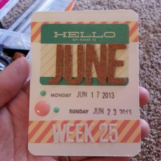 week card
