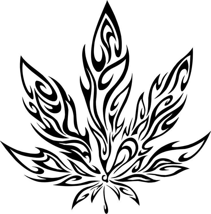 Car Decal Pot Weed Marijuana Flames Wall Art Sticker