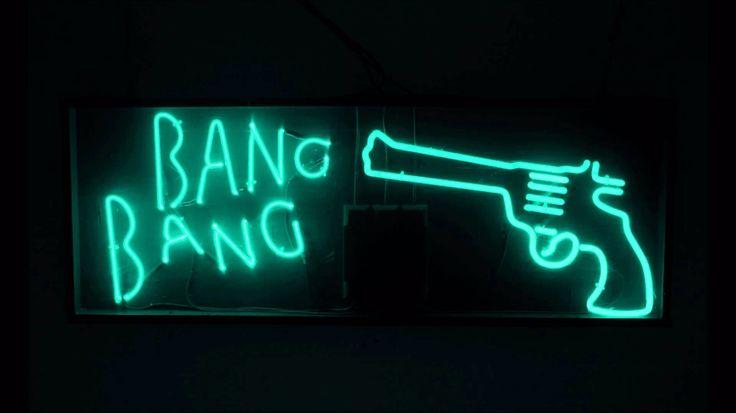 """""""-he shot me down. Bang bang. I hit the ground. Bang bang. That awful sound. Bang bang. My baby shot me down."""""""