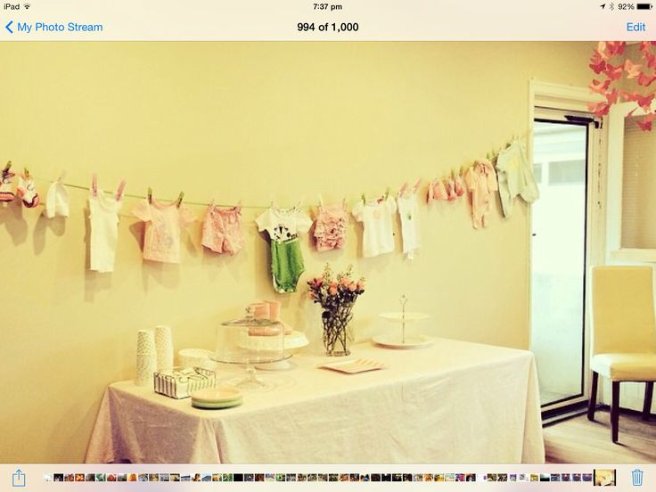 Baby clothes, onesies, decorations