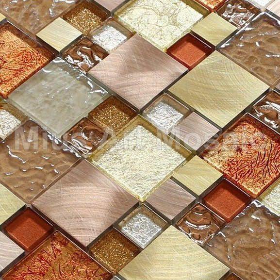 Aluminium alloy mosaic kitchen mosaic metal mosaic  glass tile A1L020 - ICON2 Luxury Designer Fixures  Aluminium #alloy #mosaic #kitchen #mosaic #metal #mosaic # #glass #tile #A1L020