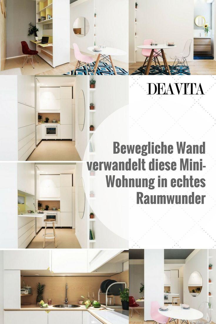 diese 29 m groe mini wohnung in mailand verfgt ber eine multifunktionale bewegliche wand - Verwandeln Sie Ihre Garage In Wohnraum