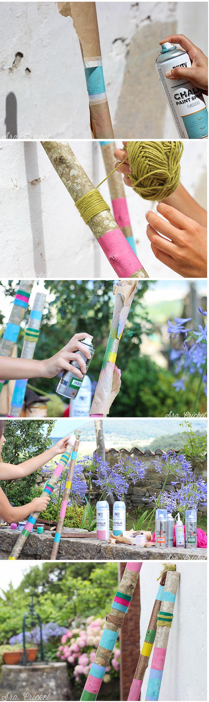 tutorial palos decorativos estilo boho