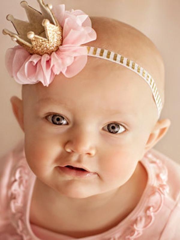 EE/_ CN/_ BABY GIRL TIARA PHOTOGRAPHY PROPS RHINESTONE CROWN HEADBAND HAIR BAND ST