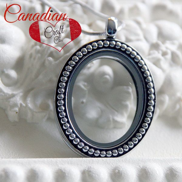 SPRING SALE *** SILVER Oval - 30mm Magnetic Memory Locket Floating Locket Heart Shaped Pendant Necklace by CanadianCraftCo on Etsy