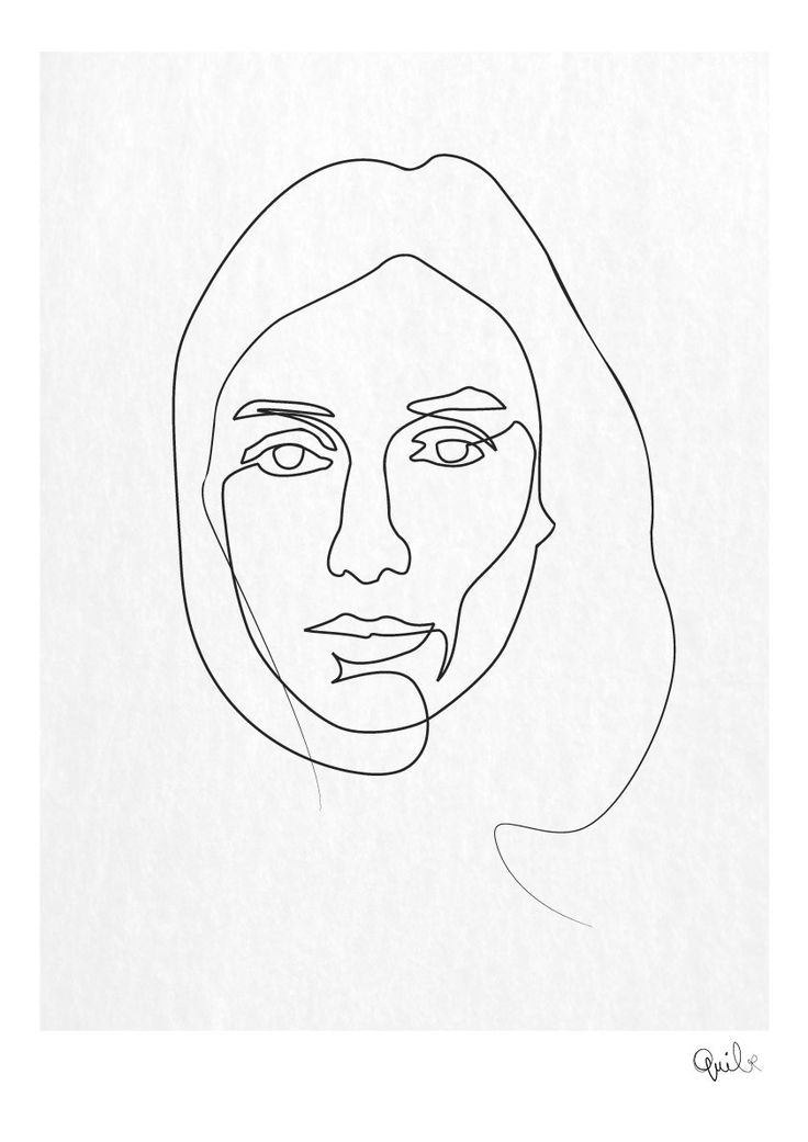 Continuous Line Drawing Of Face : Meilleures idées à propos de continuous line drawing