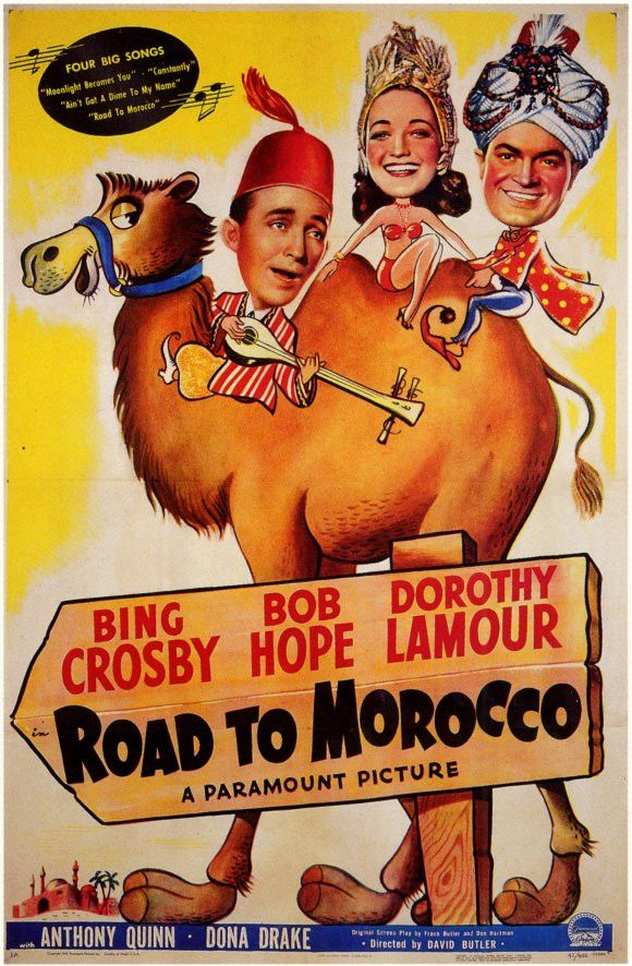 """CAST: Bing Crosby, Bob Hope, Dorothy Lamour, Anthony Quinn, Dona Drake, Vladimir Sokoloff, Yvonne De Carlo; DIRECTED BY: David Butler; PRODUCER: Paramount Pictures; Features: - 11"""" x 17"""" - Packaged wi"""