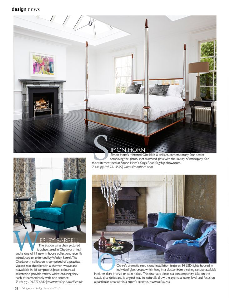 Our Mirrored Obelisk is a contemporary four poster which brilliantly combines glamour and luxury http://simonhorn.com/ Bridge for Design May 2016