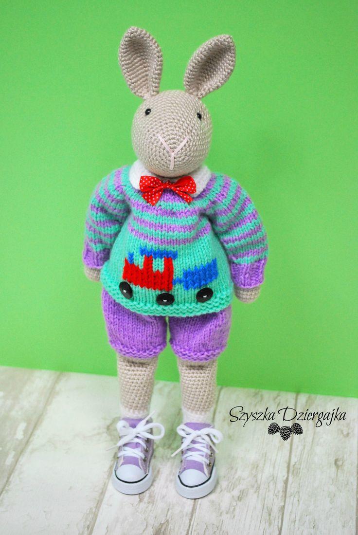 Szydełkowy króliczek Nino, Amigurumi bunny Crochet bunny