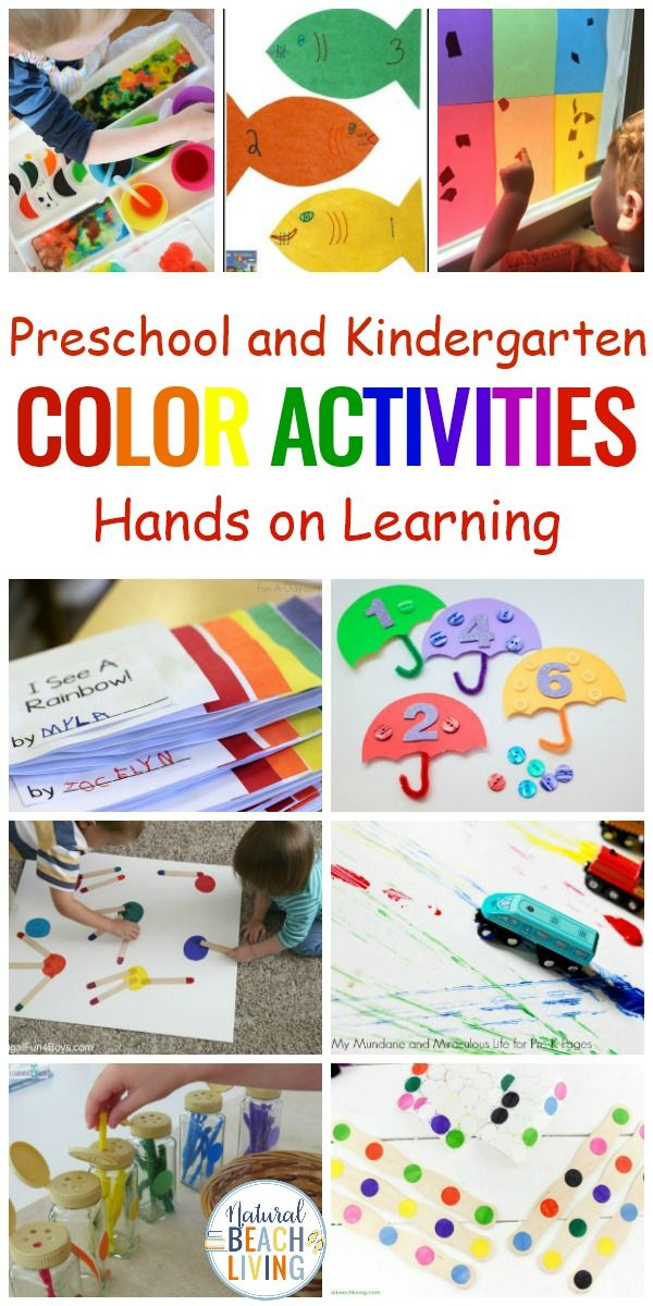 25+ Color Learning Activities For Preschool - Natural Beach Living Preschool  Color Activities, Color Activities, Color Activities For Toddlers
