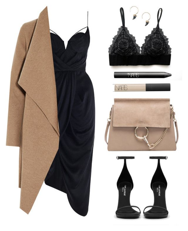 """Classy Camel"" by baludna ❤ liked on Polyvore featuring Chloé, Zimmermann, Yves Saint Laurent, Harris Wharf London, NARS Cosmetics, women's clothing, women's fashion, women, female and woman"
