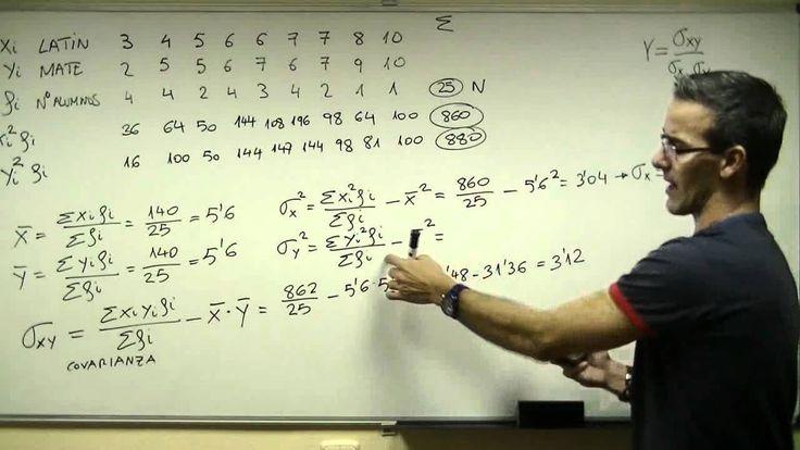 Càlcul mitjana, desviació típica, variancia, covariancia i coeficient de correlació