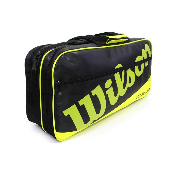Wilson Tour Rectangle Tennis Racket Backpack Bag Lime Badminton Sports Wrr614400 Badminton Sport Tennis Bag Badminton
