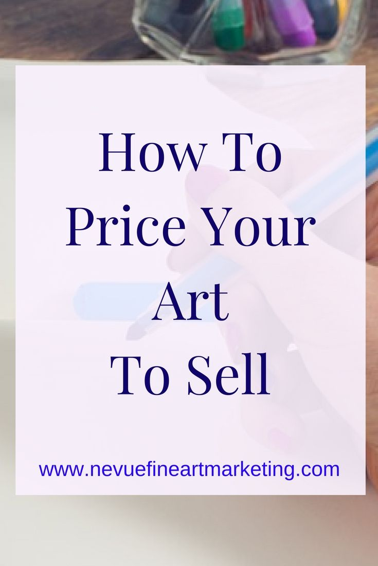One of the most complex tasks a rising artist faces when they are just starting to sell their art is learning how to price art. The price of your artwork could be the main reason your art sells or doesn't sell.