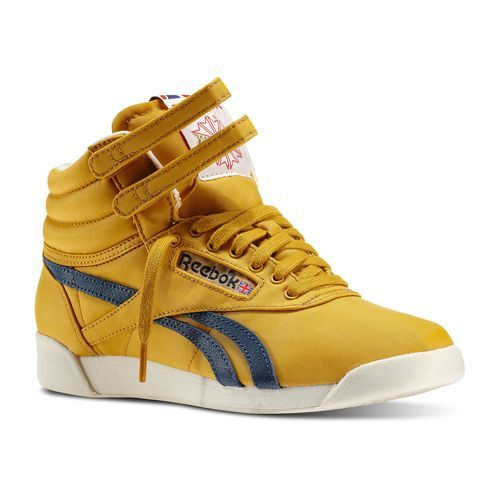 Reebok Freestyle Hi Vintage Inspired - Gold | Reebok International