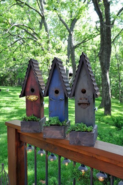 Garden Birdhouses ♥