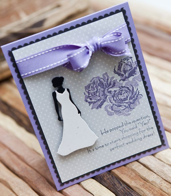 New Bride Card by Ashley Cannon Newell for Papertrey Ink (December 2012)