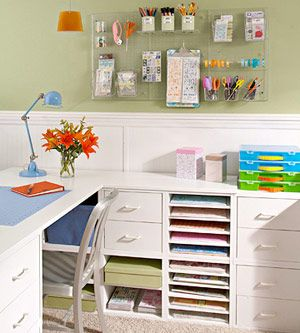 beautiful and organized craft room