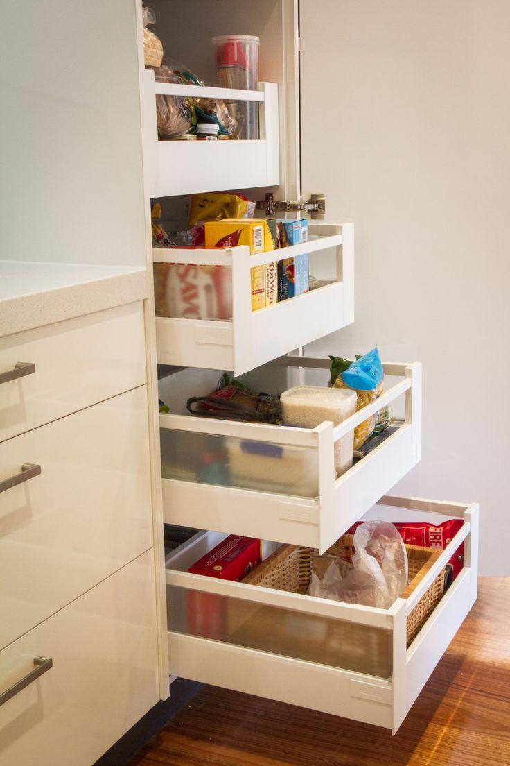 Pantry drawers www.thekitchendesigncentre.com.au