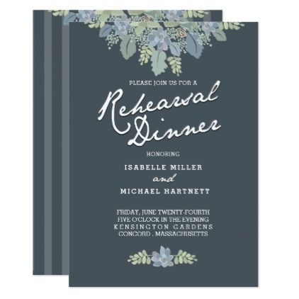 #Pretty Blooms Vintage Gardens Rehearsal Dinner Card - #weddinginvitations #wedding #invitations #party #card #cards #invitation #rustic