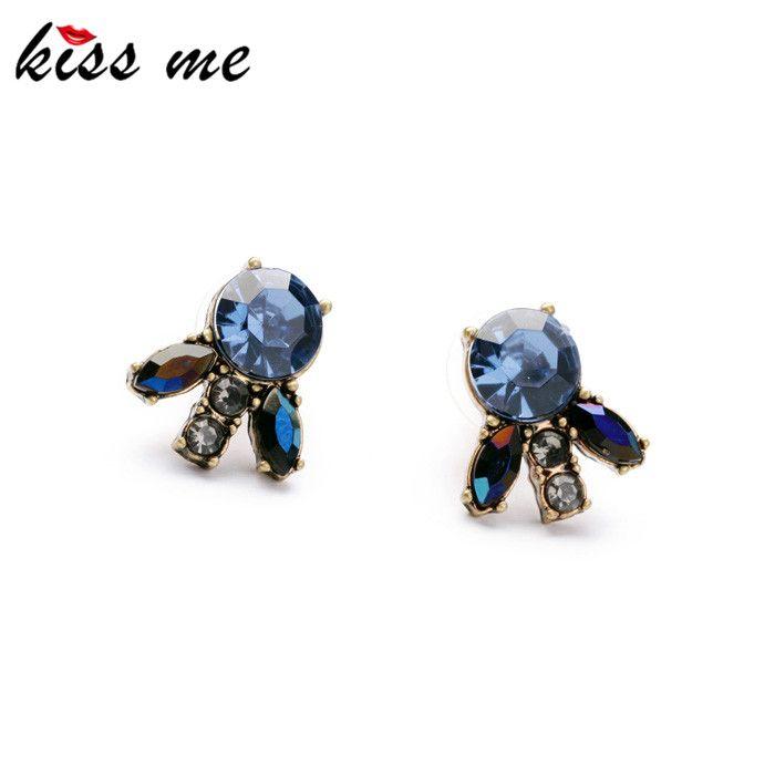 Kiss me 2014 verklaring trendy sieraden elegante hars steen bloemen antieke oorbellen fabriek groothandel